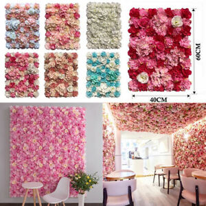 Artificial Rose Flower Wall Hydrangea Panel Background Wedding Party Home Decor