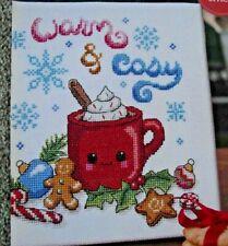 CROSS STITCH CHART -  CHRISTMAS SAMPLER KAWAII MUG DESIGN HOT CHOCOLATE + MOTIFS
