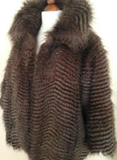 B/NEW RIVER ISLAND THICK FLUFFY FAUX FUR JACKET COAT COMPLETELY SOLD-OUT £125