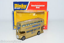 DINKY TOYS 289 ROUTEMASTER BUS THOLLEMBEEK 50 GOLD MINT BOXED PROMO RARE SELTEN