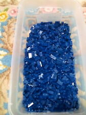 Lego Dark Blue Plate 1X2 200 Pieces NEW