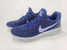 Nike LunarEpic Low Flyknit 2 Women's Running Shoes Blue Grey 863780-501 Size 9.5