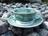 SPODE Camilla grün/green Suppentasse mit Untertasse ca. 10,5 cm