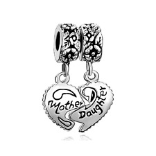 CharmSStory Heart Love Mom Mother Daughter Puzzle Charm Dangle Beads Charms