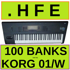 Korg 01W/FD & 01WFD Pro Library - 100 Disk Images HFE format for HxC and GoteK