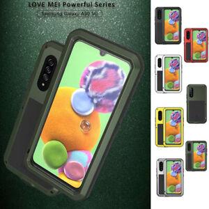 LOVE MEI Waterproof Gorilla Glass Metal Case Cover For Samsung A90 5G A9080 FD