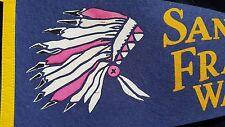 SAN FRANCISCO Warriors PENNANT 1st Indian Logo 1960's GOLDEN STATE Vintage RARE!
