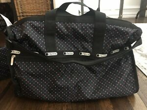 LeSportSac Medium Weekender Nylon Duffle Bag + Pouch NEW WITH TAGS