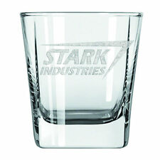 Surreal Marvel Iron Man Tony Stark Industries Laser Etched Glass Tumbler 2 Pack
