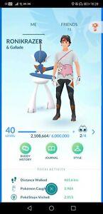 Pokémon Go account 40 regigigas yveltal regirock regice aggron venusaur slaking