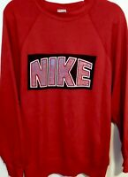 VTG 80s 90s NIKE Gray-Tag DISTRESSED 50/50 SOFT THIN SpellOut Sweatshirt Red M/L