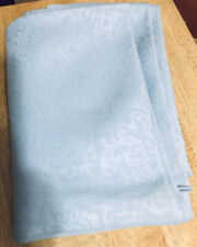 "Vintage Round Jacquard Fabric Tablecloth - Baby Blue - 71"" dia."