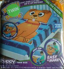 � Zippy Sack Puppy Dog Twin Size Blanket New