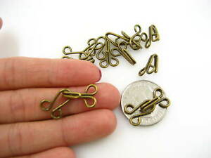10sets bronze large Hook and Eye Fasteners skirt dress bronze Sew On collar hook