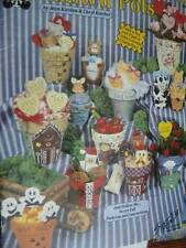 Painted Pots Painting Booklet-Kievlan/Ketcher-Animals/Gingerbread House/Hallowee