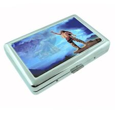 Indian Native American Metal Silver Cigarette Case D6 Tribes Tent Wid West