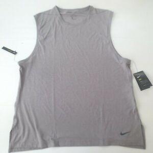 Nike Men Transcend Tank Shirt - CN9818 - Gray 056 - Size 2XL - NWT