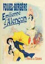 A4 photo CHERET Jules les affiches illustrees 1896 Emilienne dalencon imprimer post