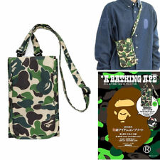 A Bathing Ape Bape Bag Shoulder Crossbody Bag Green Camo Wallet Purse