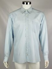 Christian Dior Chemises Mens Size 16 - 34/35 Light Blue Diamond Dress Shirt