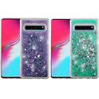 For Samsung Galaxy S10 5G Liquid Glitter Quicksand Hard Phone Case Accessory