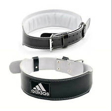 adidas Leather Weight Lifting Belt Gym Power Training Lumbar Back Support OFFER