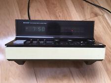 Vintage Sharp FX-52C white black Digital Clock Radio - japan - retro design