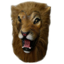 Latex LION - SAFARI Head Party Mask - Halloween Lion King Movie Props Theater
