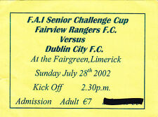 Rangers Football European Club Fixture Tickets & Stubs