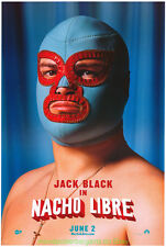 NACHO LIBRE MOVIE POSTER Original DS 27x40 MASK Style Advance JACK BLACK