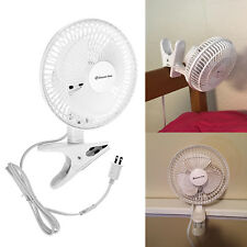 Mini Electric Cooling Clip On Fan Portable Oscillating Table Tops Night Stands