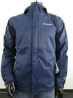 Mens Columbia 1X-2X-3X-4X Timber Pointe Waterproof Hooded Rain Jacket - Navy