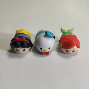 Pack de 3 Figuras Tsum Tsum Disney | Pato Donald, Ariel y Blancanieves