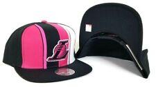 Mitchell & Ness Stripe Los Angeles Lakers Black / Pink snapback Hat Cap