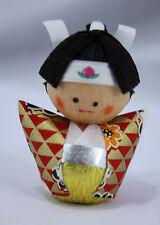 起き上がり小法師 Okiagari Koboshi - Figurine papier maché MOMOTARO - Made in Japan