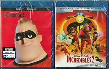 Disney Pixar The Incredibles 1 & 2 Blu-ray + Digital Double Pack Brand New