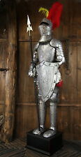 Crusader Medieval Knight in Suit of Handmade Armor 7FT with Shield and Spear