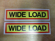 2x WIDE LOAD decals - motorcycle pannier / seat stickers -  funny - 130mm