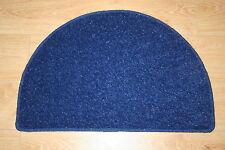 BLUE Half Moon RUG 77cm x 50 cm glitter ANTERIORE POSTERIORE Tappetino Blu Glitter