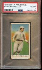 1909 E90-1 American Caramel Baseball Card Heinie Heitmuller PSA 2 Good
