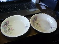 Vintage Alfred Meakin Plate Montmartre paris cafe poodle girl 2 bowls Circa 1958
