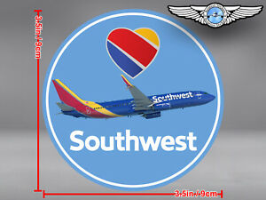 SOUTHWEST AIRLINES SOUTH WEST SWA ROUND AIRPLANE IN NEW LIVERY STICKER / DECAL