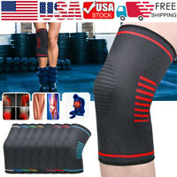 Weaving Knee Sleeve Brace Pad Support Stabilizer Sport Gym Running Joint Pain