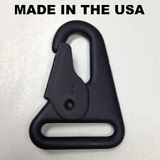 "USA MADE HK H&K 1"" Style Sling Clip Snap Hook Spring Gate Quick Release BLK"