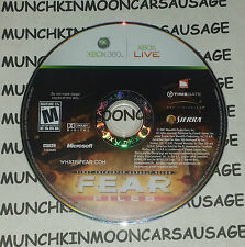 FEAR F.E.A.R Files NTSC DISC ONLY PAL Microsoft XBox 360 2007 Works On PAL