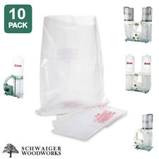 (10) Plastic Dust Collector Bags for Grizzly G0548ZP, G0562ZP, G1030Z2P, G1028Z2