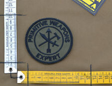 """Ricamata / Embroidered Patch """"Primitive Weapons"""" OD with VELCRO® brand hook"""