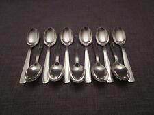 11 petites cuillères art-déco en métal argenté