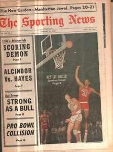 The Sporting News Newspaper Jan 20, 1968 Carnivorous Cardinal Westley Unseld