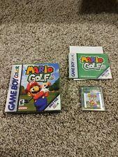 Mario Golf (Nintendo Game Boy Color, 1999) Complete w Box & Manual